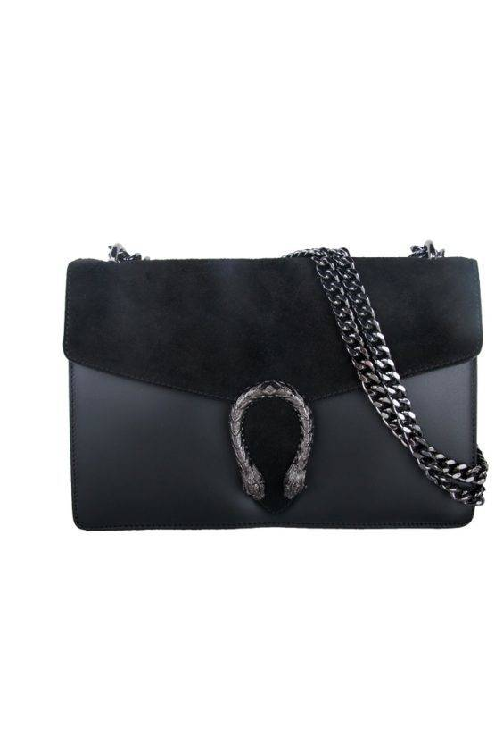 DRAGON BLACK LEATHER BAG