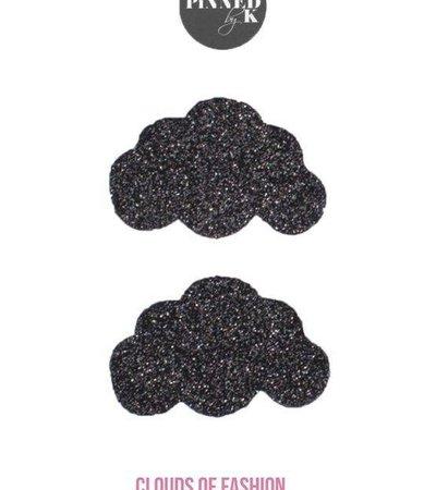 COFXPBK – BLACK GLITTER CLOUD PINS