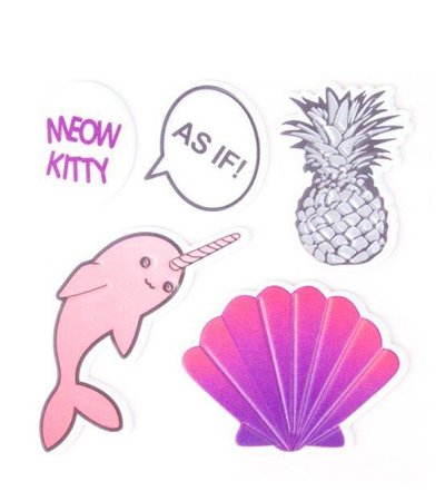 AS IF PINEAPPLE STICKER