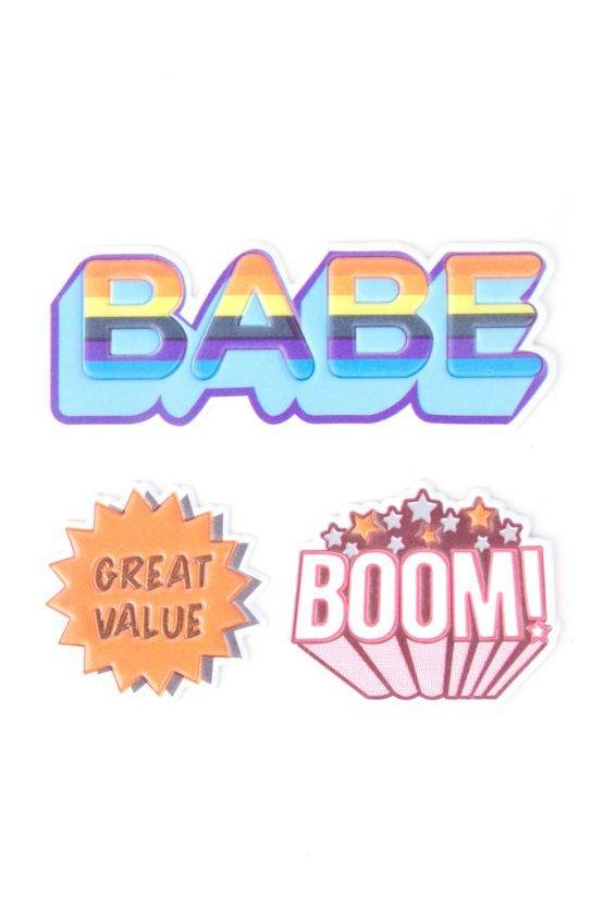 BABE BOOM STICKER