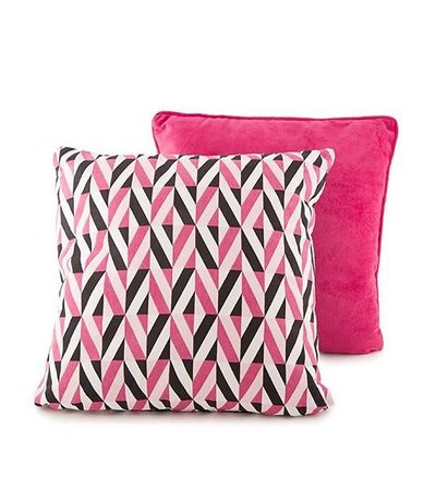 MOSHY BLACK & PINK CUSHION