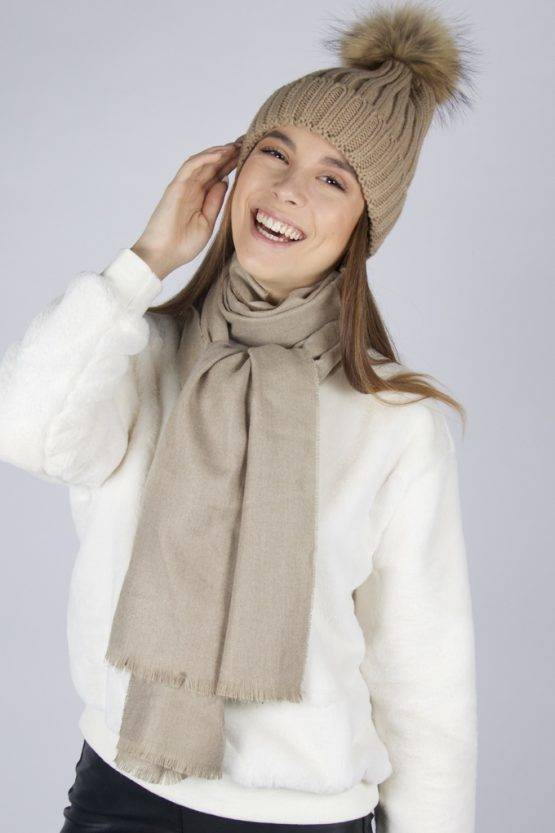 TAUPE SOFT SCARF