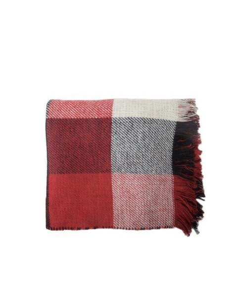 SWEET RED/BLACK/WHITE SQUARED SCARF