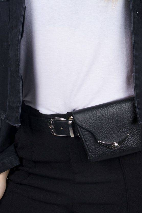 SYNTHETIC LEATHER BELT BLACK