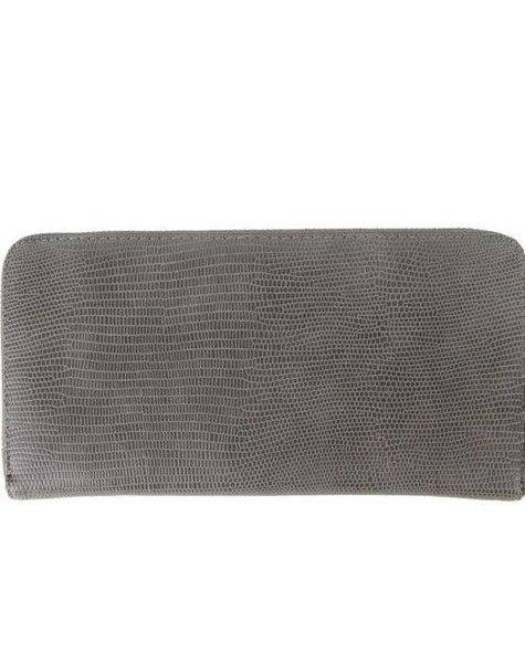 GREY CROCO WALLET