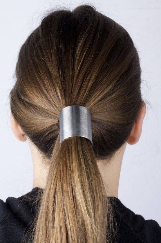 SILVER PLATE HAIR TIE