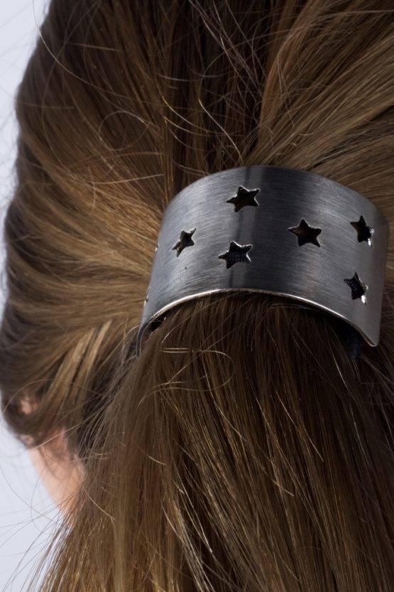 STAR SILVER HAIR TIE