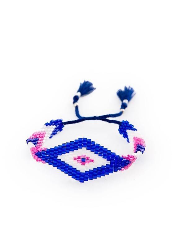 IBIZA SQUARED BRACELET – BLUE/WHITE/PINK