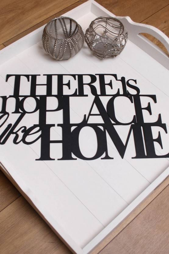 WALL STICKER – THERE IS NO PLACE LIKE HOME