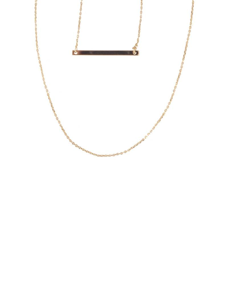 LAYERED BAR NECKLACE – GOLD