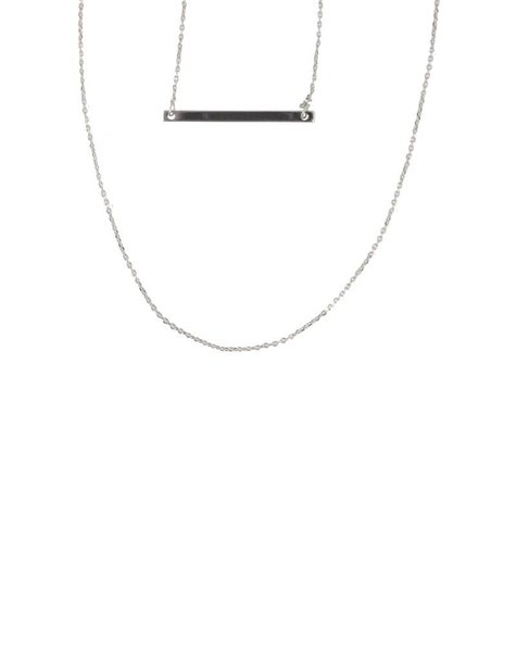 LAYERED BAR NECKLACE – SILVER