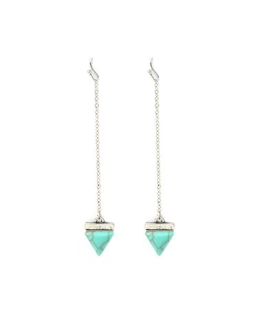 TRIANGLE CYAN EARRINGS