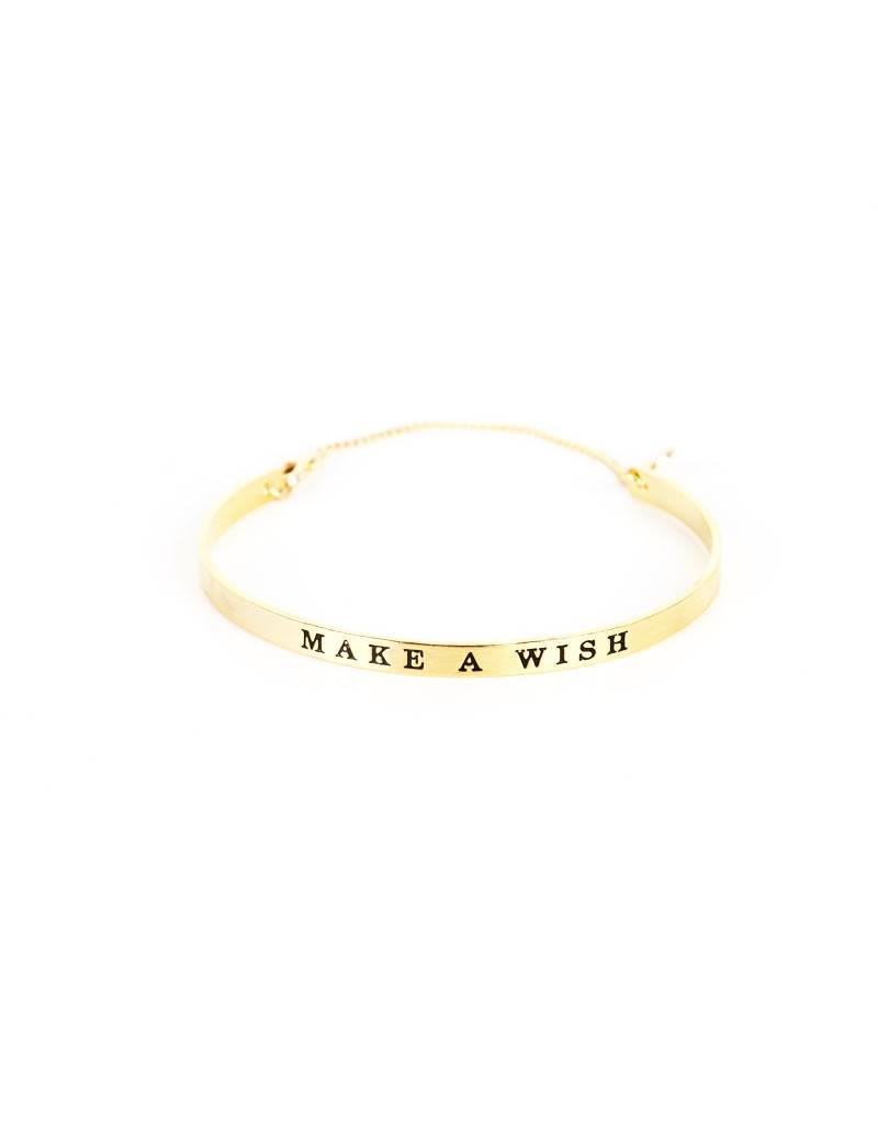 MAKE A WISH BRACELET – GOLD