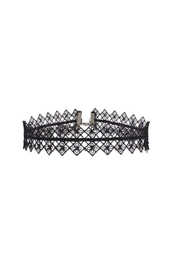 BIG MIRROR LACE CROCHET CHOKER