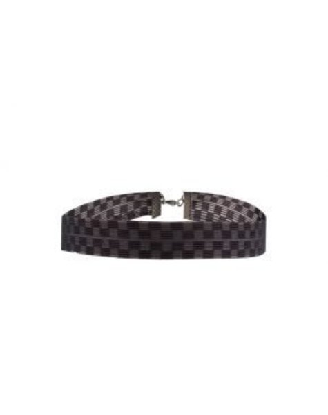 BLACK CHECKED CHOKER