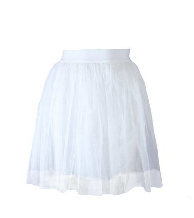 CINDERELLA TULLE MINI SKIRT WHITE