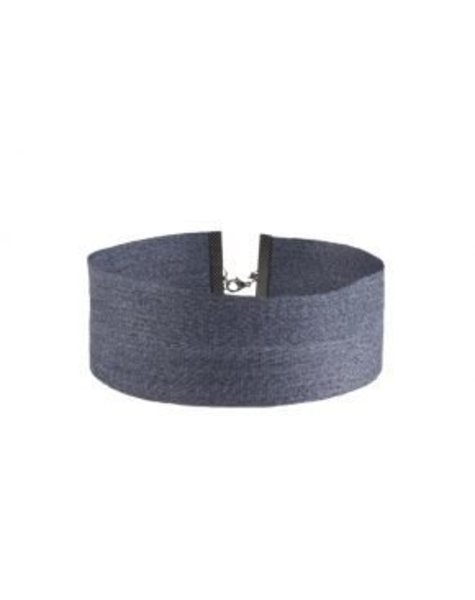 BLUE BIG JEANS CHOKER
