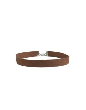 SMALL BROWN SUEDE CHOKER