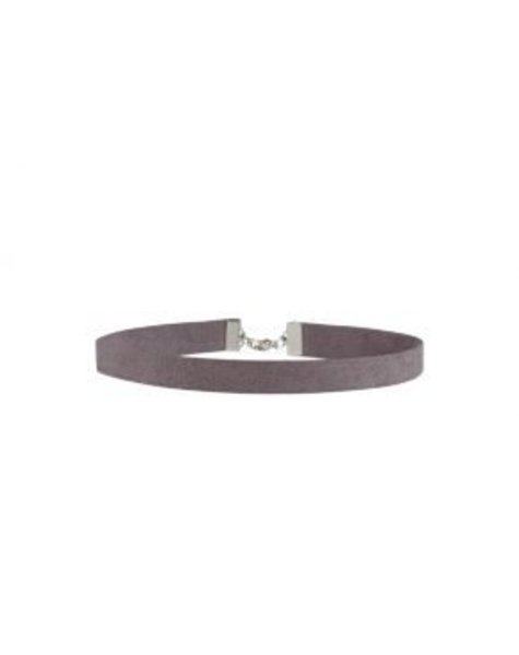 SMALL GREY SUEDE CHOKER