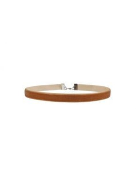 SMALL BROWN VELVET CHOKER