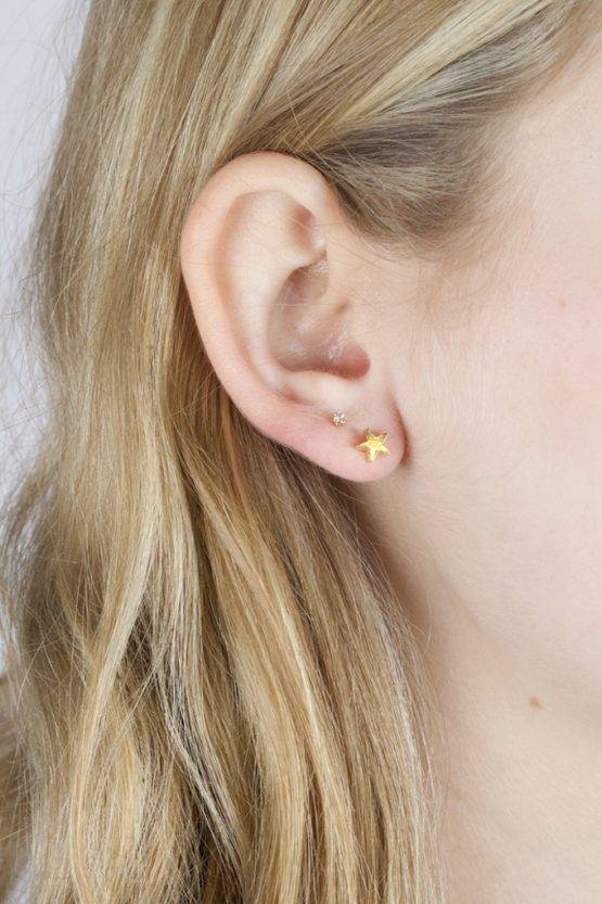 IT TAKES TWO – STAR DIAMOND EARRING GOLD