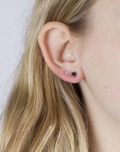 IT TAKES TWO – STAR DIAMOND EARRING SILVER