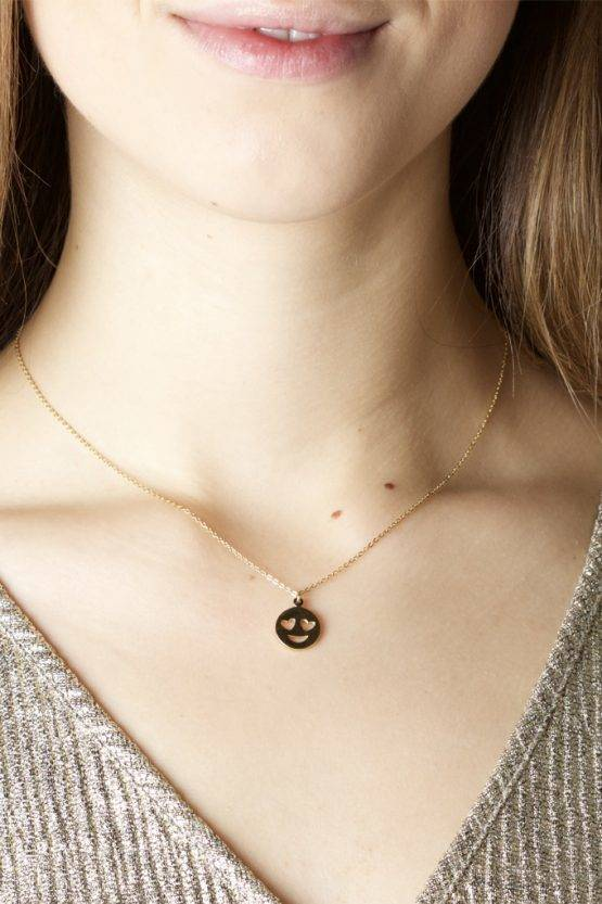 SMILEY NECKLACE GOLD