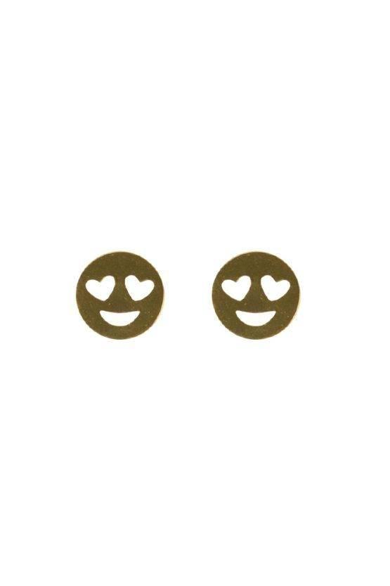 SMILEY EARRINGS GOLD