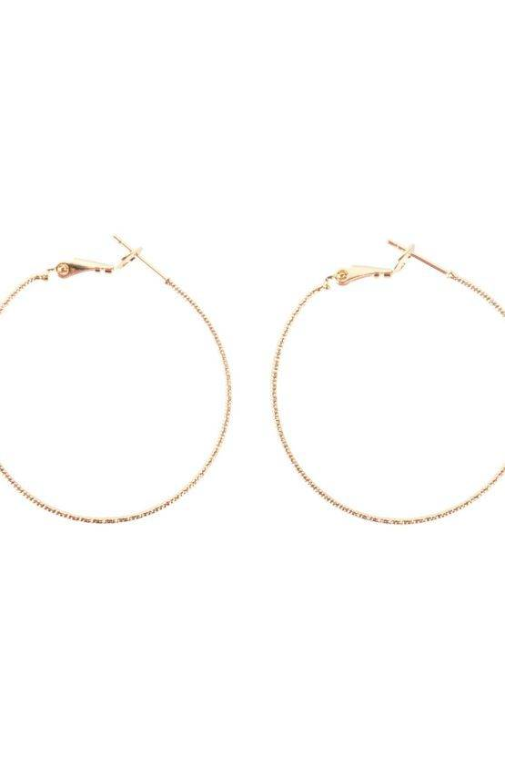 STRUCTURED HOOP EARRINGS GOLD