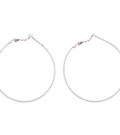 STRUCTURED HOOP EARRINGS SILVER