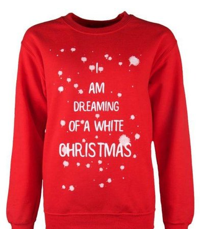 DREAMING OF A WHITE CHRISTMAS SWEATER