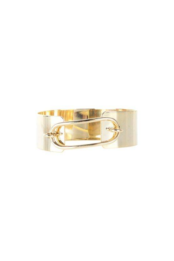 BIG GOLD OVAL BANGLE