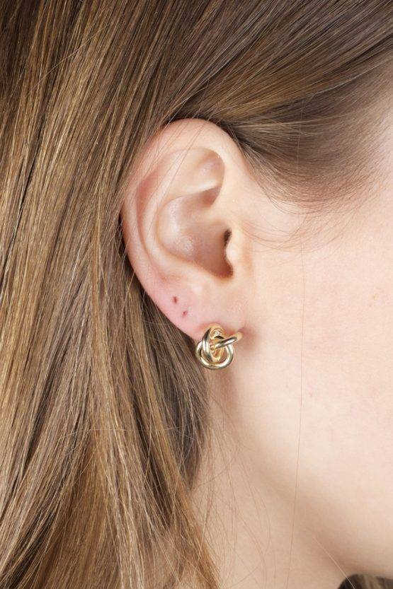 KNOT EARRINGS GOLD