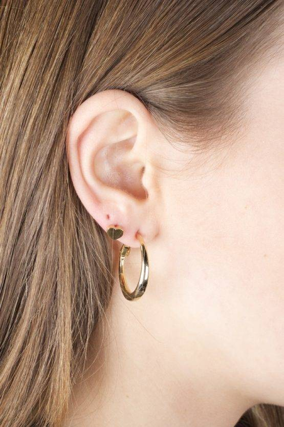 MINI HEART EARRING GOLD