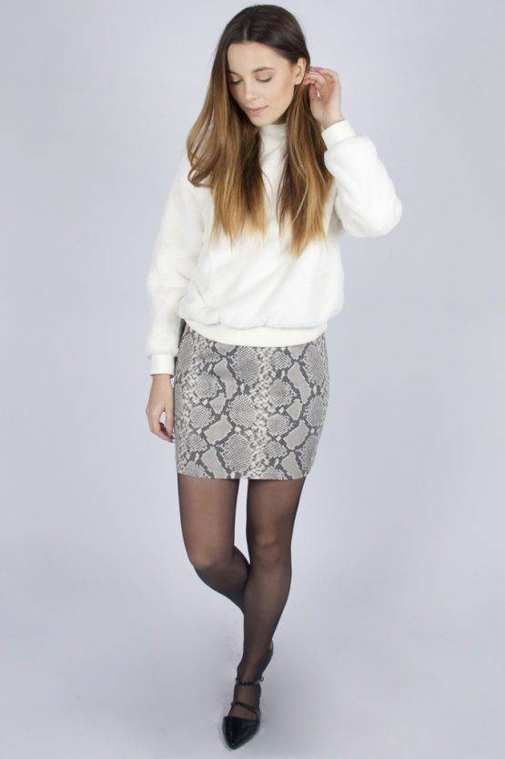 SNEAKY SNAKE LEATHER SKIRT