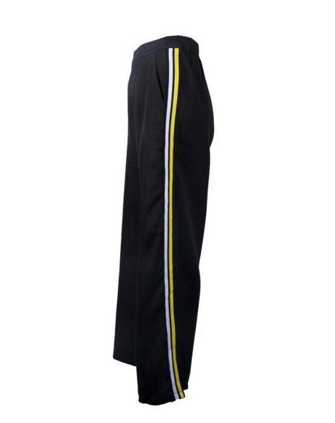 WIDE SPORTY CONTRAST TROUSERS BLACK