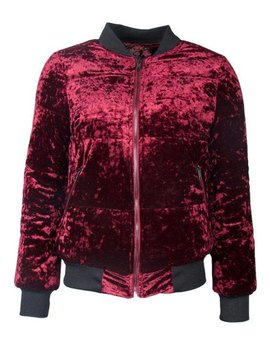 EYE-CATCHER BORDEAUX VELVET BOMBER