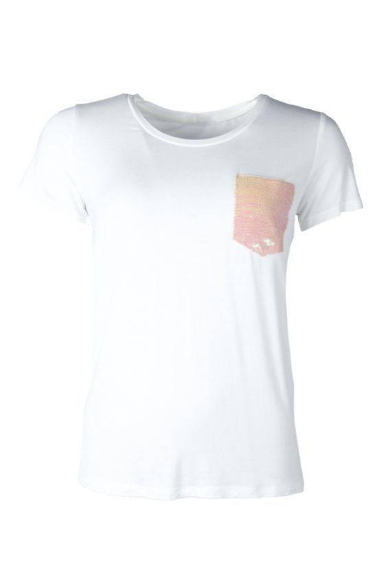 MERMAID SEQUIN TSHIRT WHITE