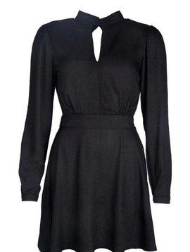FANCY OPENBACK DRESS BLACK