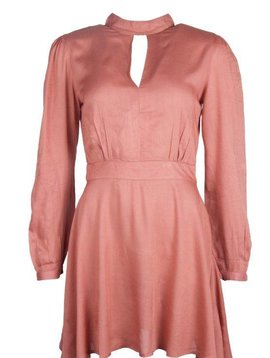 FANCY OPENBACK DRESS CAYON PINK