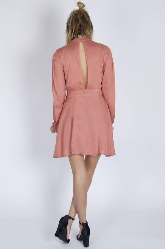 FANCY OPENBACK DRESS CAYON PINK