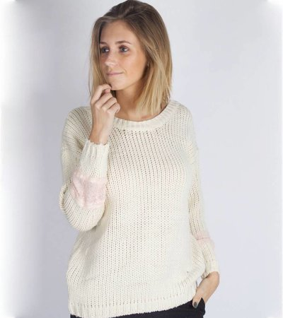 GIRLY KNITTED SWEATER BEIGE