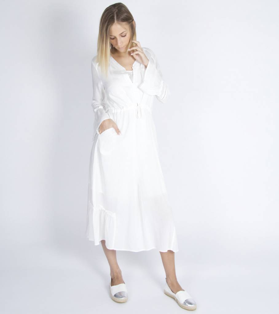 A DAY AT THE BEACH DRESS WHITE