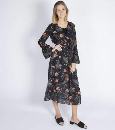 A DAY AT THE BEACH FLORAL DRESS