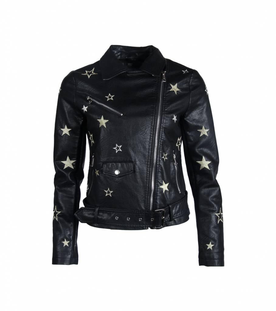 STAR GIRL LEATHER JACKET