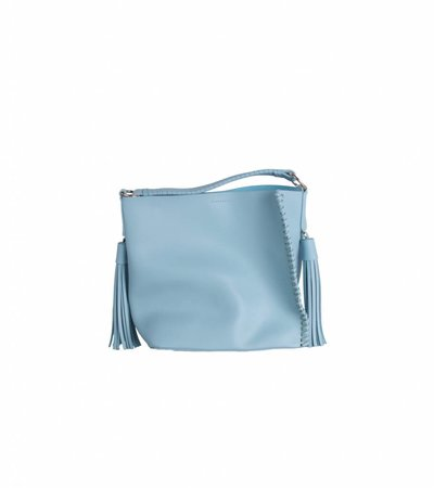 BLUE TASSEL SHOPPER
