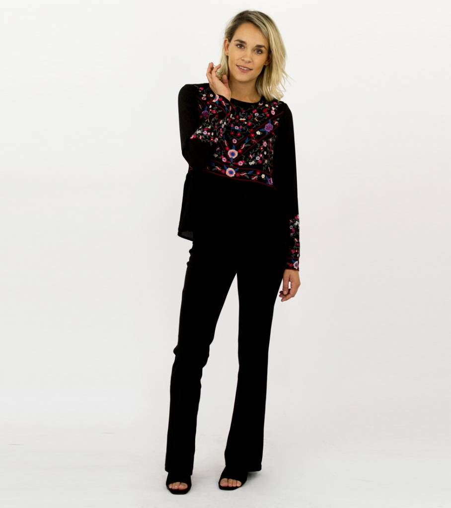 EMBROIDERED BLACK BLOUSE