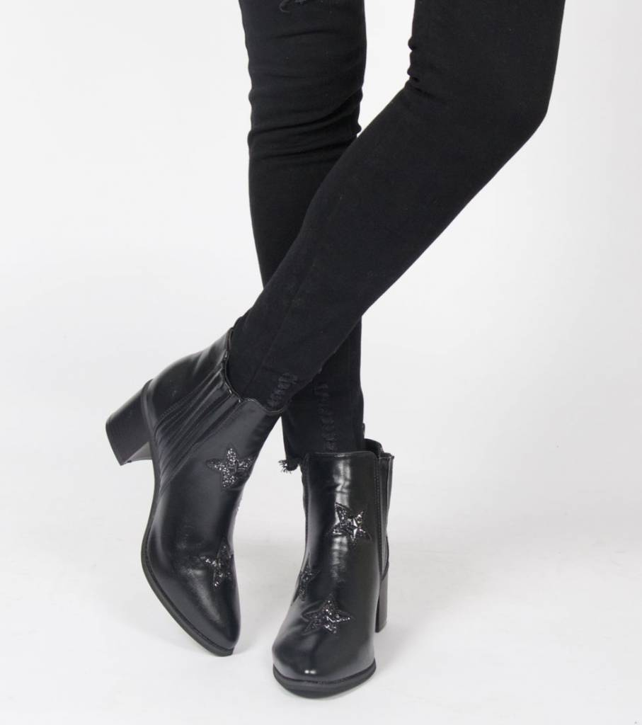REACH FOR THE STAR BLACK BOOTS