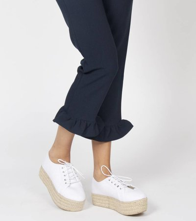 REED PLATEAU SNEAKER WHITE