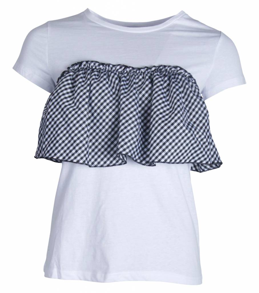 GINGHAM CHECKED TSHIRT